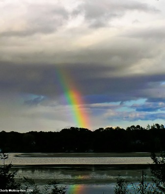 Rainbow over Buffalo Lake, Marquette County, Wisconsin