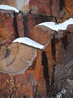 Montello, Wisconsin  granite quarry in winter 2014.